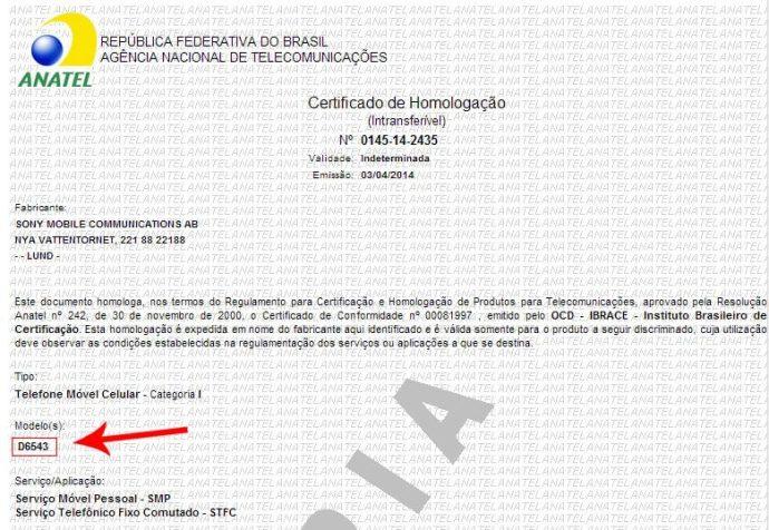 homologacao xperia z2 720x497 - Sony Xperia Z2 é homologado e deverá chegar em breve às lojas