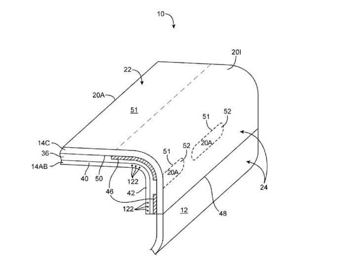 patente apple te lateral - Publicada patente de tela lateral da Apple