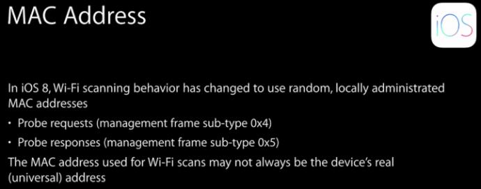 iOS 8 Privacidade na descoberta de redes Wi-Fi