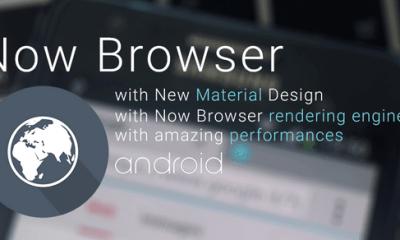 Capturar - Now Browser Material: um navegador levíssimo para seu dispositivo Android