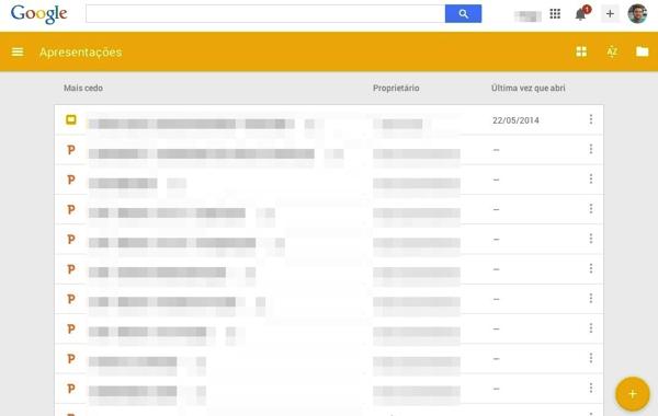 Google Documentos Planilhas e Apresentacoes ganham nova cara com Material Design Apresentacoes Lista - Google Documentos, Planilhas e Apresentações ganham nova cara com Material Design