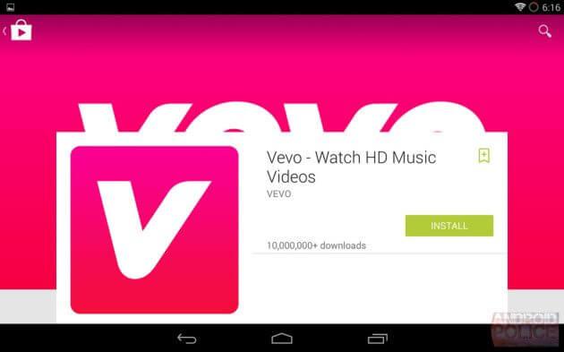 updatedplaystoretablet 630x393 Android L Material Design - Google Play Store ganha atualização com novo visual