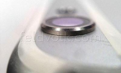 iphone 6 camera lente - iPhone 6: novas fotos mostram logo em Liquidmetal e lente da câmera saindo da traseira