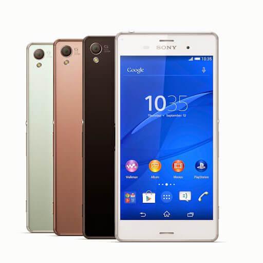 00 Xperia Z3 colours - Sony apresenta Xperia Z3, SmartBand Talk e SmartWatch 3 na IFA