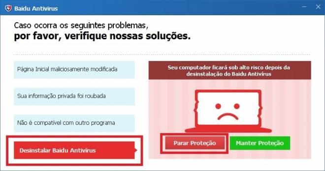 Baidu Antirvirus remover