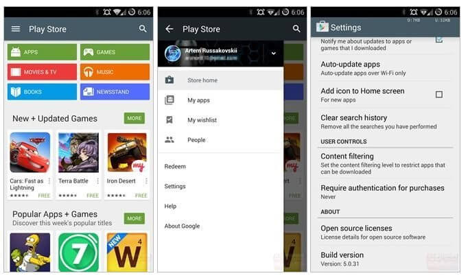 google play store material design android l - Google Play Store recebe mais um banho de Material Design