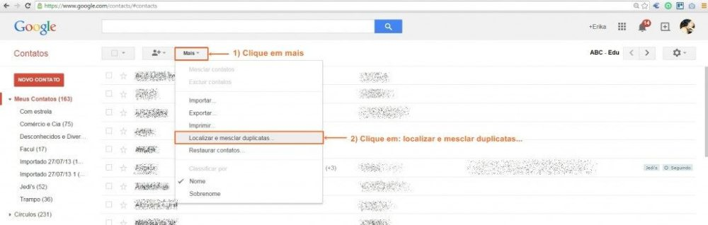 mesclar contatos 2 - Tutorial: Mesclando contatos duplicados no Google