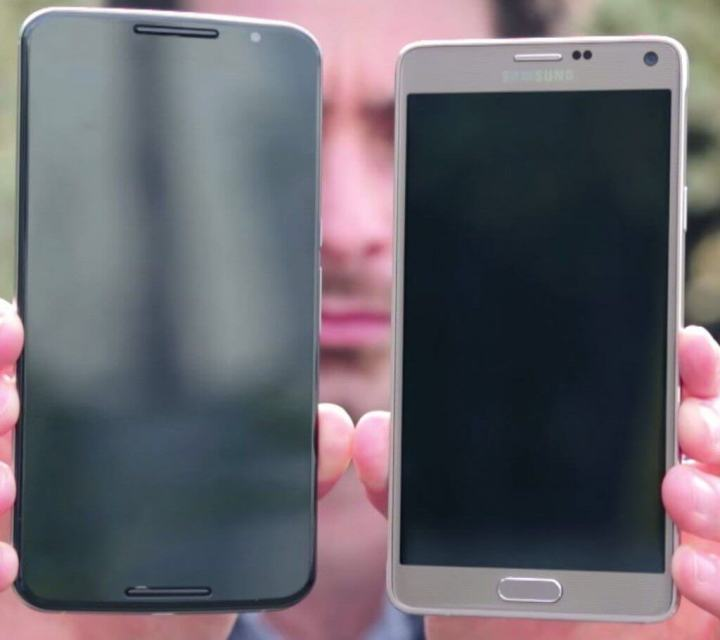 nexus 6 vs note 4 720x640 - Comparativo: Nexus 6 vs. Galaxy Note 4 (em vídeo)