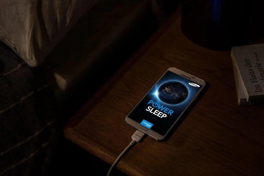 power sleep image galaxy note3 nachtkasten - Samsung Power Sleep: faça o bem enquanto dorme