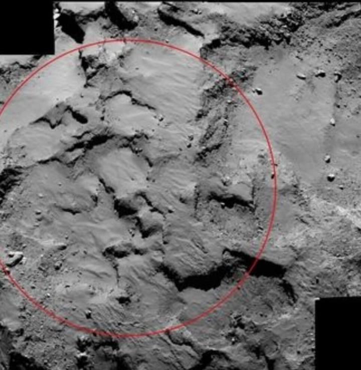 Rosetta capturou imagem do Ponto J / NASA/ESA / AFP