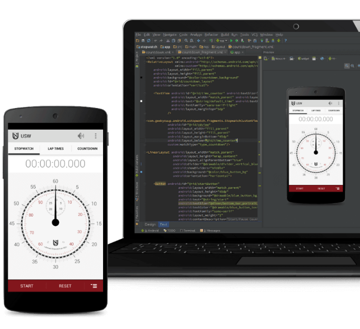 laptop studio1 720x658 - Desenvolvedores Android já podem baixar o Android Studio 1.0 RC1
