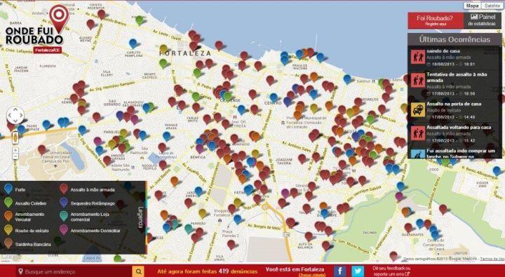 onde fui roubado fortaleza 720x395 - Onde Fui Roubado? Site colaborativo ajuda no combate ao crime