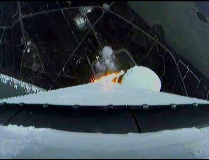 liftoff6 720x551 - Missão Orion é lançada com sucesso: assista ao lançamento (vídeo)