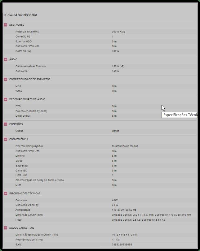 screen shot 01 06 15 at 04 44 pm - Review: LG Sound Bar NB3530A, melhor que um home theater?