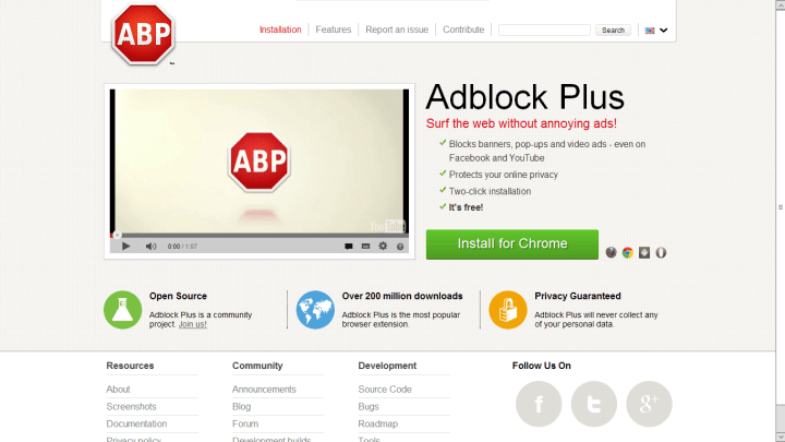 adblock plus website on mevvy com  720x405 - Google e Microsoft pagam para não terem seus anúncios bloqueados na web