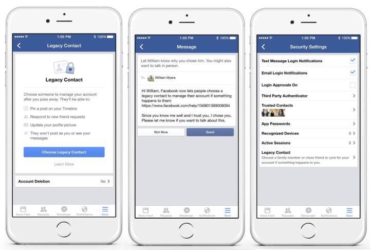 facebook legacy contact 720x486 - Além da vida: Facebook cria recurso para gerir perfis de usuários falecidos