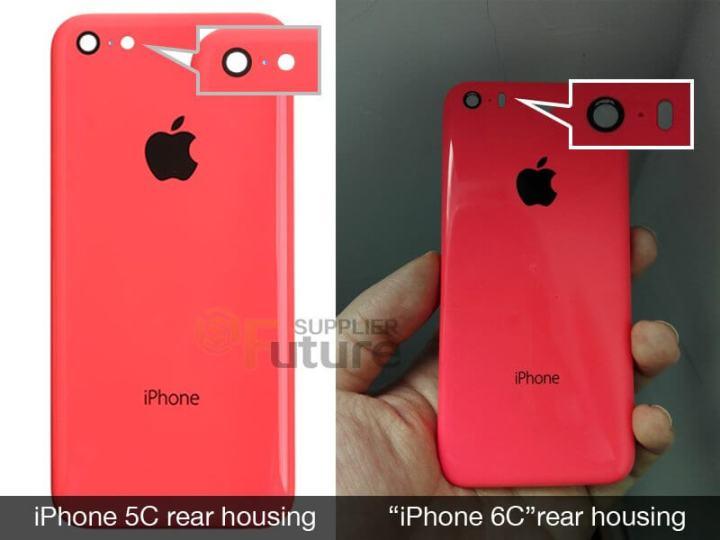 iphone 6c rear housing 1 720x540 - Novas imagens sugerem novo iPhone 6C com 4 polegadas