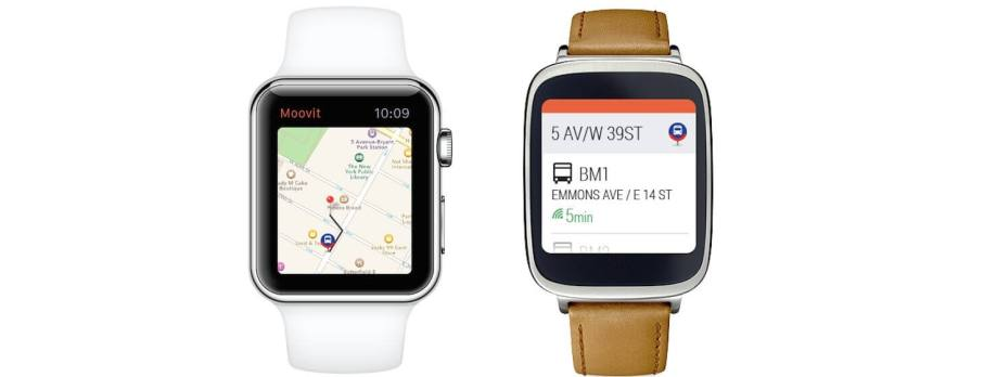 Moovit-Android-Wear-Apple-Watch