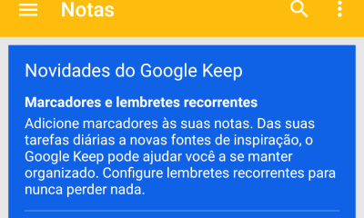 screenshot 2015 03 26 16 58 04 - Google Keep  v3.1 agora com lembretes recorrentes e Marcadores