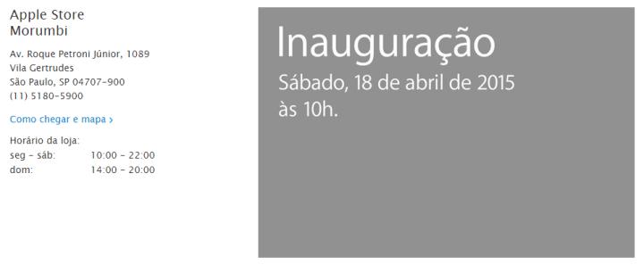 apple store so paulo 720x297 - Apple abrirá loja oficial em São Paulo na próxima semana