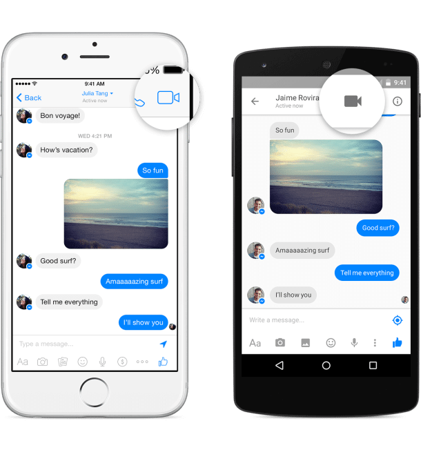 messenger video call1 - Facebook lança videochamadas via Messenger