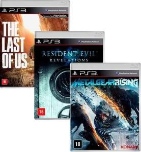 PS3 The last of us resident evil e metal gear rising