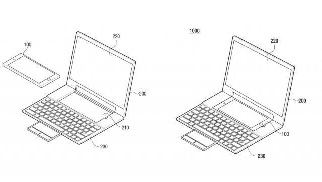 samsungpatent 640x363 - Samsung revela patente que transforma celulares Android em laptops Windows