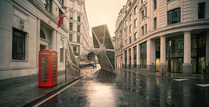 Um TIE Figther em Londres