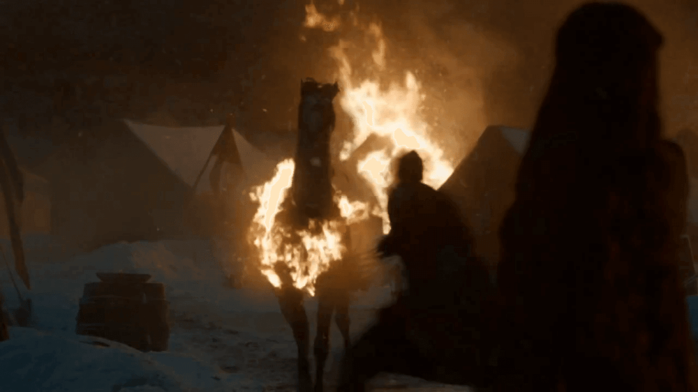 acampamento stannis fogo - Game of Thrones 5x09 The Dance of Dragons: Tudo se resolve com fogo