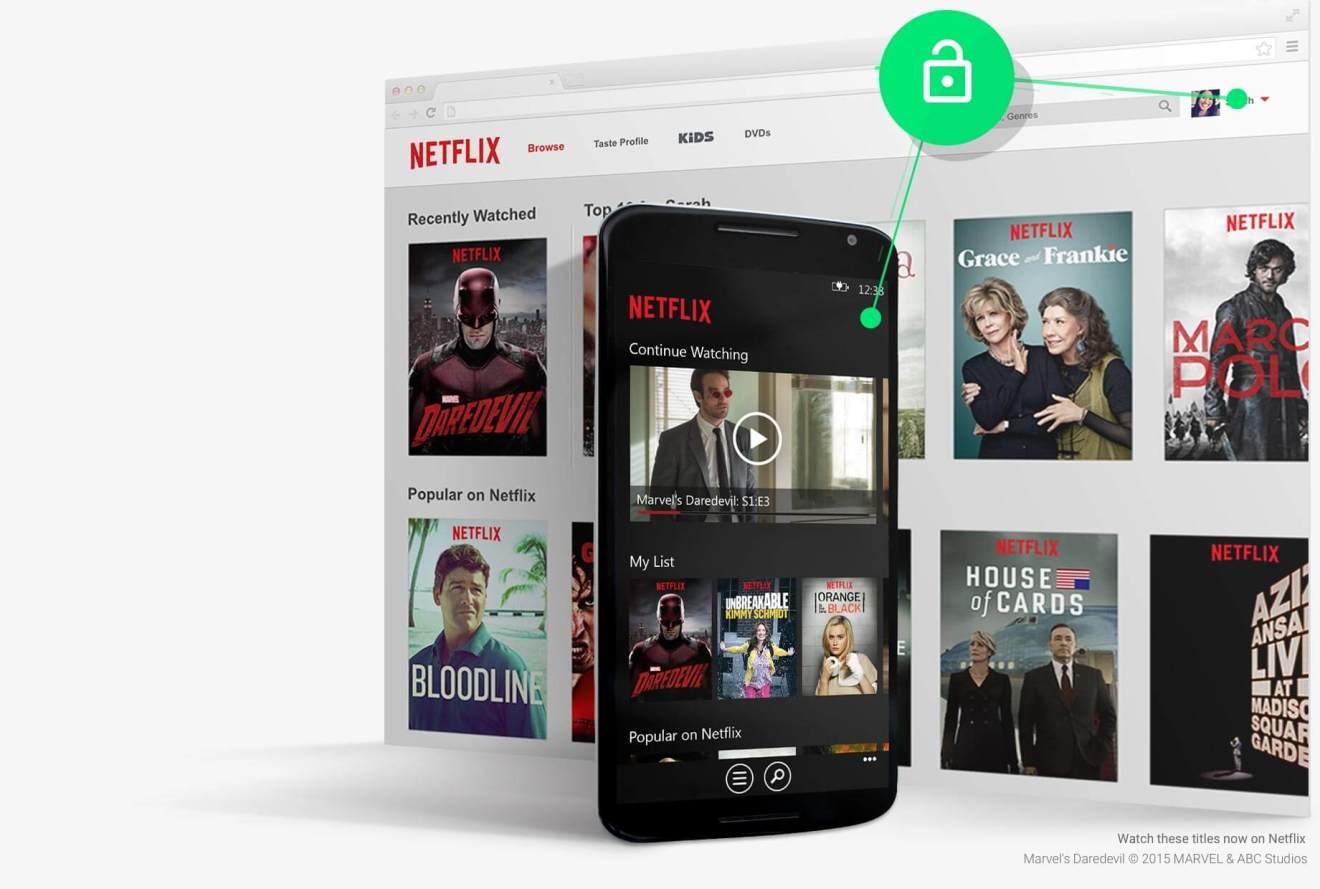 google android smart lock netflix - De acordo com a página de bloqueio inteligente do Google, o Nexus 6 também roda Windows Phone