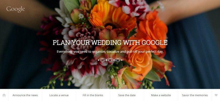 google weddings 720x332 - Google Weddings promete ajudar a planejar o casamento