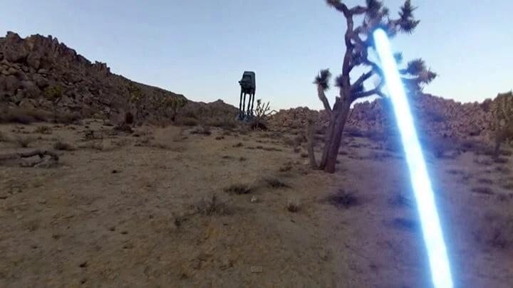 jedi fps 2 720x405 - Video incrível feito com GoPro mostra a visão em primeira pessoa de um Jedi