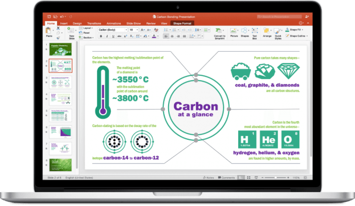 office 2016 for mac powerpoint 720x419 - Microsoft lança versão final do Office 2016 para Mac