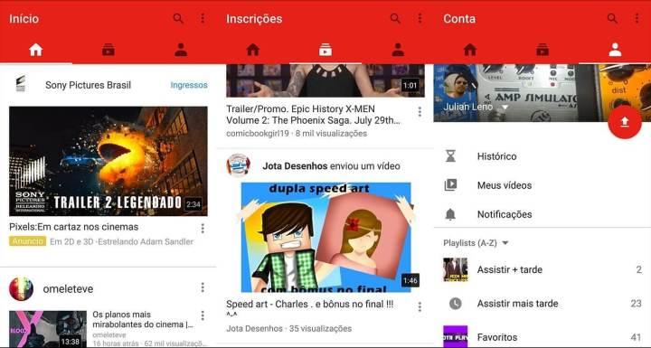 youtube novo layout android smt julian 720x385 - YouTube para Android passa a exibir vídeos na vertical em tela cheia