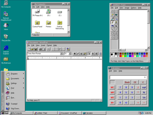 am windows95 desktop - 20 anos do Windows 95: como ele mudou o mundo