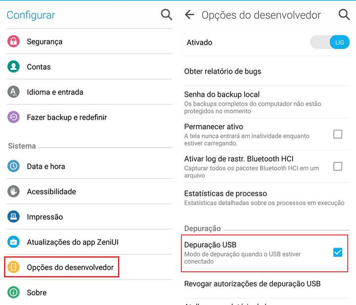 ativar depuracao usb 2 720x617 - Esse incrível app permite controlar seu Android pelo PC