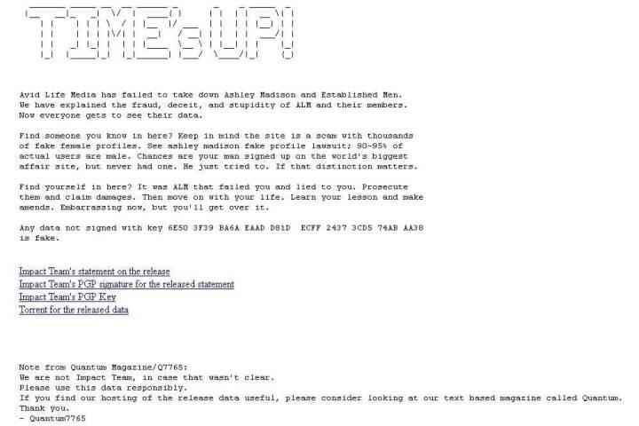 smt ashleymadison impactteam 720x480 - Cerca furada: Vazamento de quase 10GB de dados deixa usuários do Ashley Madison em alerta