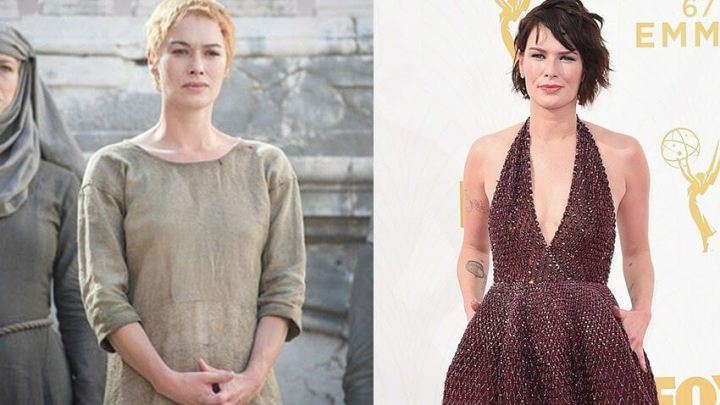 """lena headey got red carpet 720x405 - No Mercy: """"Game of Thrones"""" tem vitória sangrenta no Emmys 2015"""