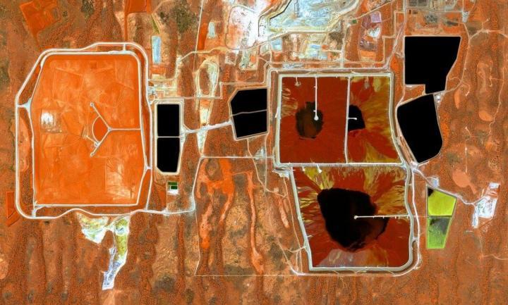 Olympic Dam Mine, Austrália Meridional, Austrália, 1 de abril de 2015. (Daily Overview)