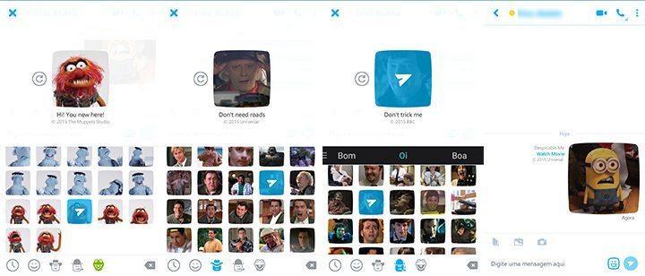 skype mojis1 - Skype anuncia emojis animados com Minions, De Volta para o Futuro, Muppets, Doctor Who e mais