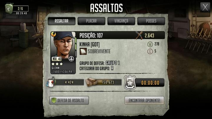 Walking dead road to survival assaltos placar posicao