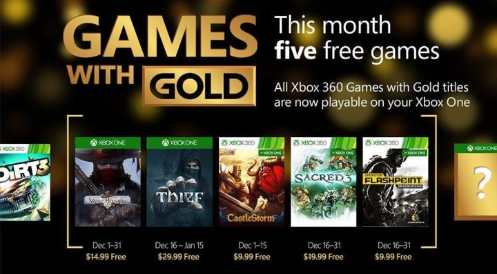 games with gold dezembro 2015 720x398 - Games with Gold: 5 jogos grátis para dezembro 2015