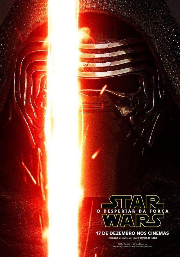 """star wars kylo poster - Protagonistas de """"Star wars: o despertar da Força"""" ganham pôsteres oficiais"""
