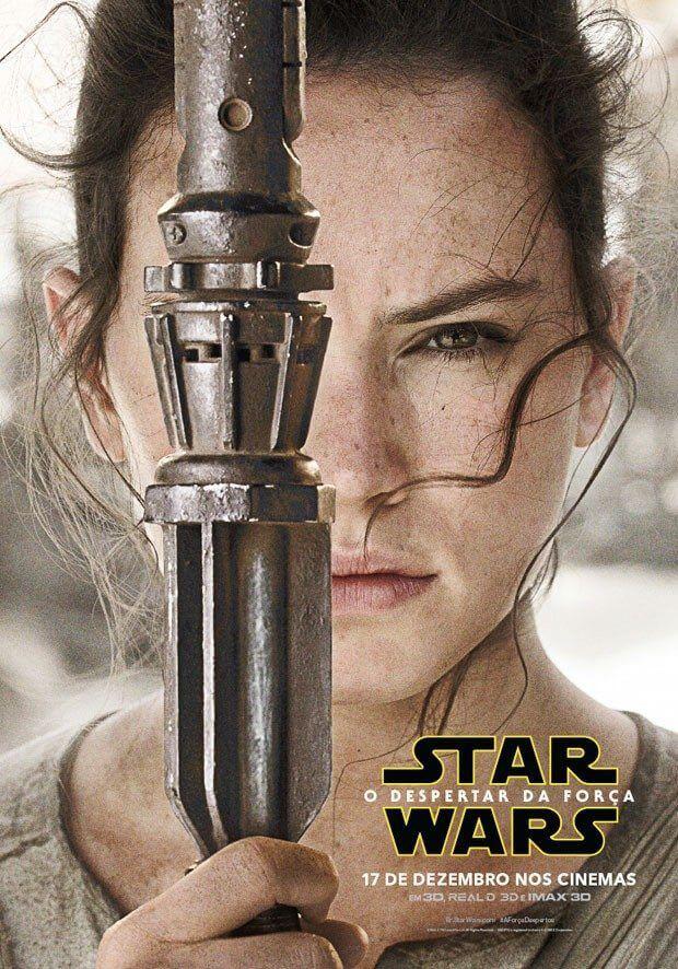 """star wars rey poster - Protagonistas de """"Star wars: o despertar da Força"""" ganham pôsteres oficiais"""
