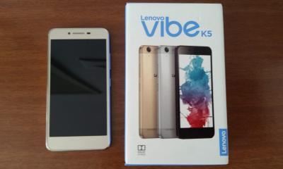 Lenovo Vibe K5 fica com a segunda posição