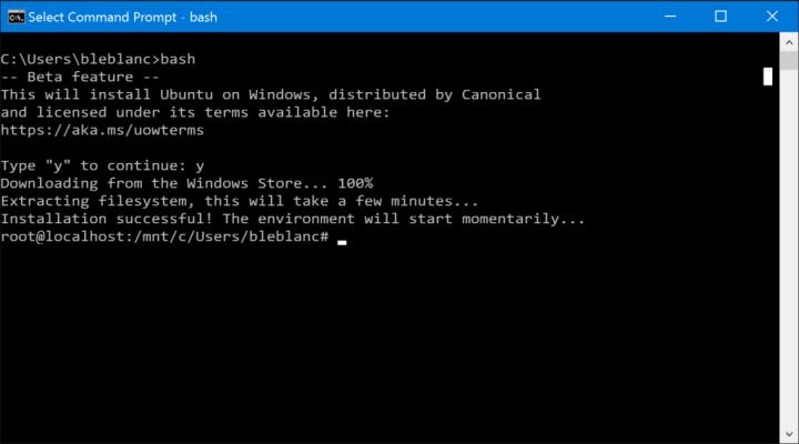bash-windows-10