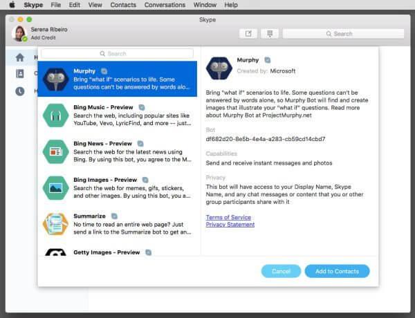 bots do skype - Bots do Skype chegam ao Mac OS e versão web