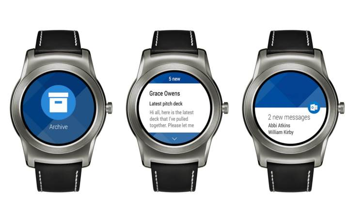 outlook para android wear 720x445 - Microsoft Outlook chega ao Android Wear