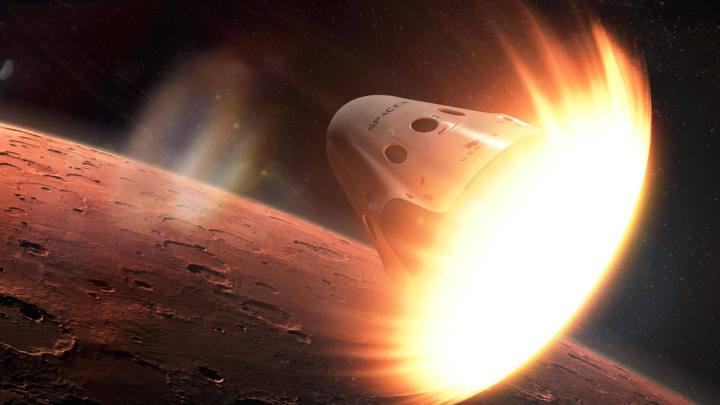 spacex dragon 720x405 - SpaceX pretende enviar missão a Marte em 2018