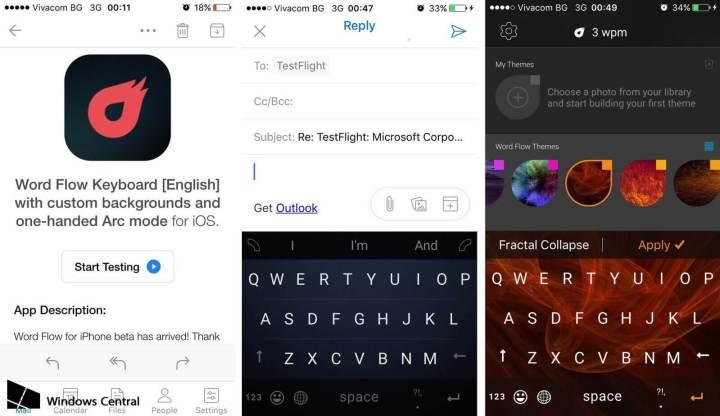 wordflow ios screens 720x416 - Vazam imagens do teclado Word Flow da Microsoft para o iPhone
